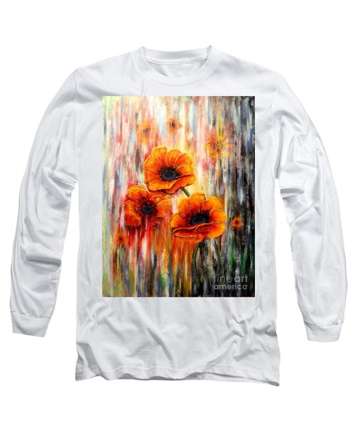 Melting Flowers Long Sleeve T-Shirt by Greg Moores