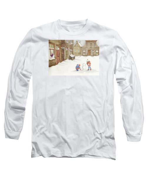 Long Sleeve T-Shirt featuring the painting Memories........... by Annemeet Hasidi- van der Leij