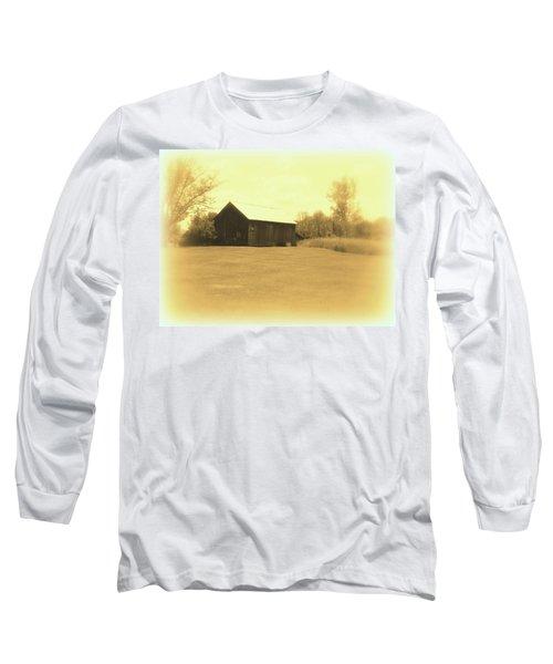 Memories Of Long Ago - Barn Long Sleeve T-Shirt by Susan Lafleur