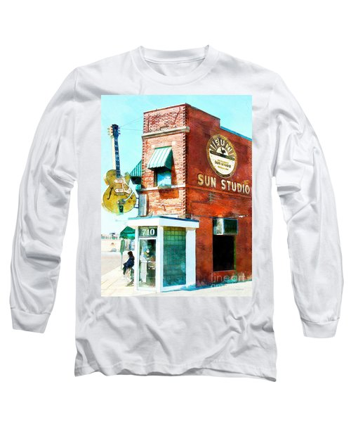 Memphis Sun Studio Birthplace Of Rock And Roll 20160215wcstyle Long Sleeve T-Shirt