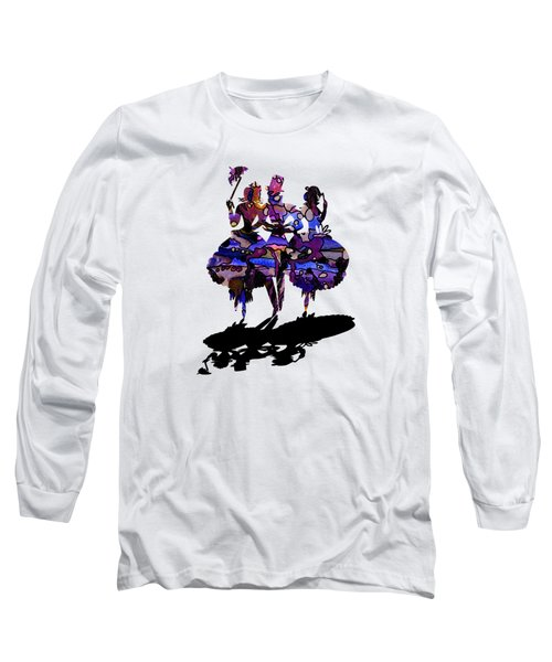 Menage A Trois On Transparent Background Long Sleeve T-Shirt