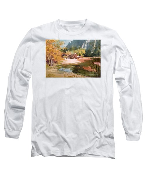 Merced River Encounter Long Sleeve T-Shirt by Donald Maier
