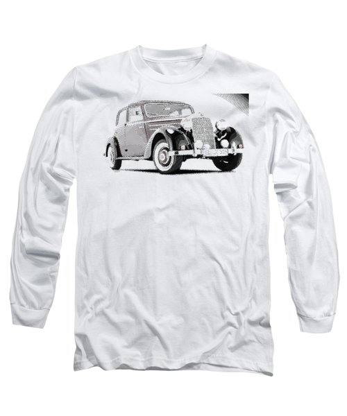 Mercedes Benz 170 S - Parallel Hatching Long Sleeve T-Shirt