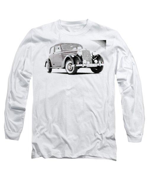 Mercedes Benz 170 S - Parallel Hatching Long Sleeve T-Shirt