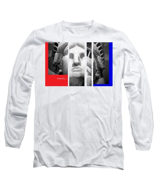 Merci Long Sleeve T-Shirt by Andrew Drozdowicz