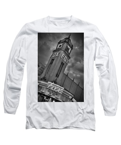 Merle Haggard Rip Fox Theater Black And White Long Sleeve T-Shirt
