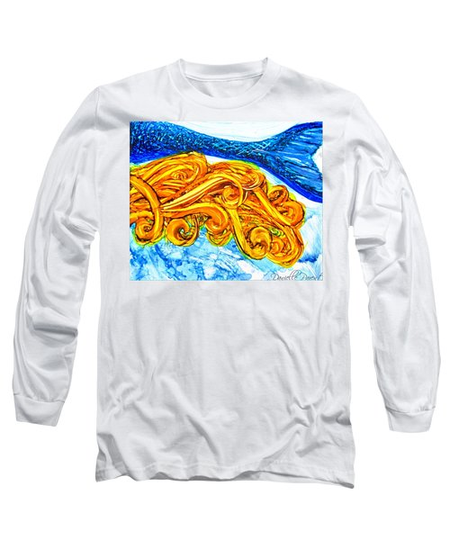 Mermaid Alcohol Inks Long Sleeve T-Shirt