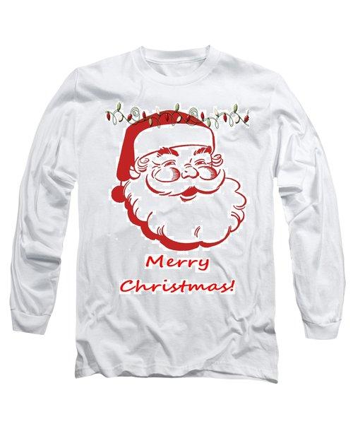 Merry Christmas Santa Claus Vertical Long Sleeve T-Shirt