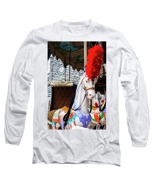 Merry-go-round Long Sleeve T-Shirt by Ana Mireles