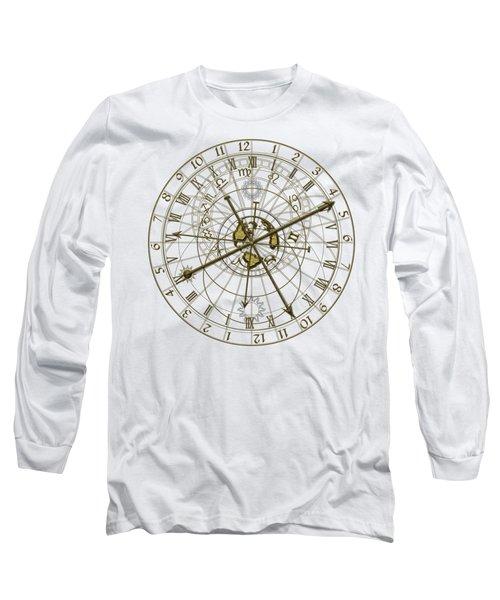 Metal Astronomical Clock Long Sleeve T-Shirt by Michal Boubin