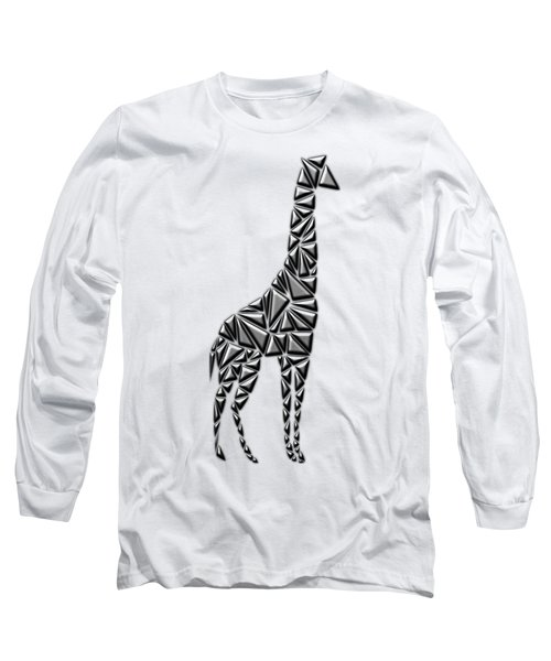 Metallic Giraffe Long Sleeve T-Shirt by Chris Butler