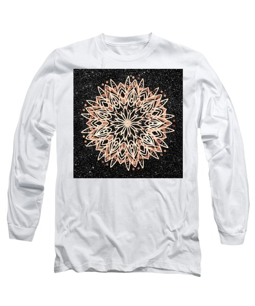 Metallic Mandala Long Sleeve T-Shirt