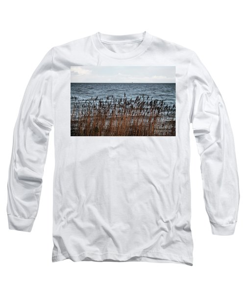 Metallic Sea Long Sleeve T-Shirt by Ana Mireles