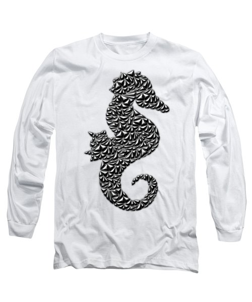 Metallic Seahorse Long Sleeve T-Shirt by Chris Butler