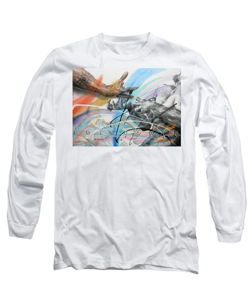 Long Sleeve T-Shirt featuring the painting Metamorphosis by J- J- Espinoza
