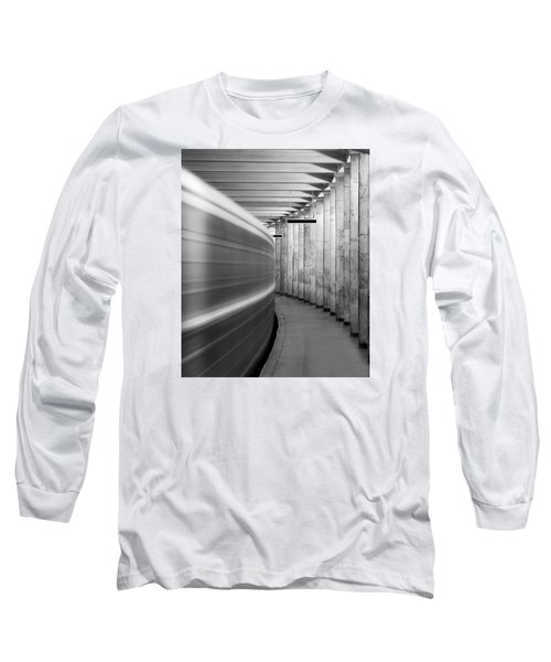 Metro #0110 Long Sleeve T-Shirt by Andrey Godyaykin