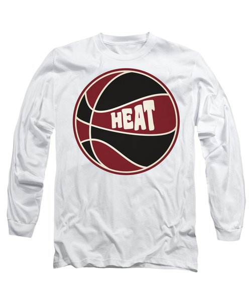 Miami Heat Retro Shirt Long Sleeve T-Shirt by Joe Hamilton