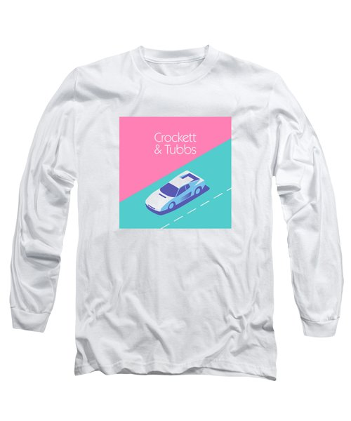 Miami Vice Crockett Tubbs - Magenta Long Sleeve T-Shirt by Ivan Krpan