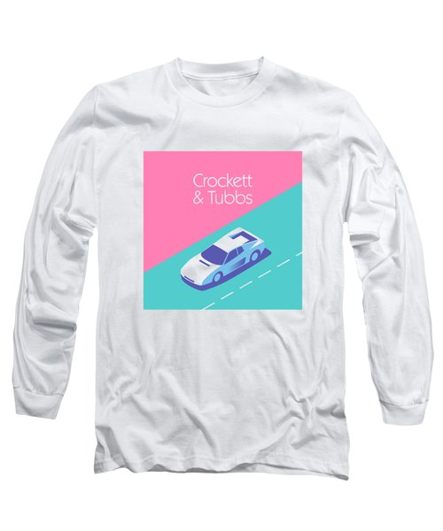 Miami Vice Crockett Tubbs - Magenta Long Sleeve T-Shirt