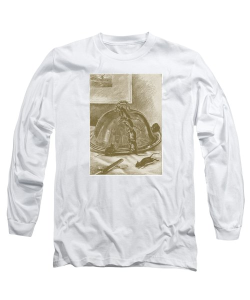 Long Sleeve T-Shirt featuring the drawing Mice Have It Covered by David Davies