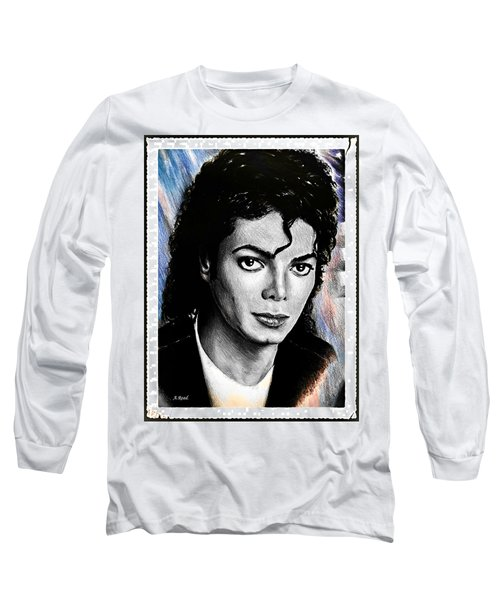 Michael Jackson Stamp Design Long Sleeve T-Shirt