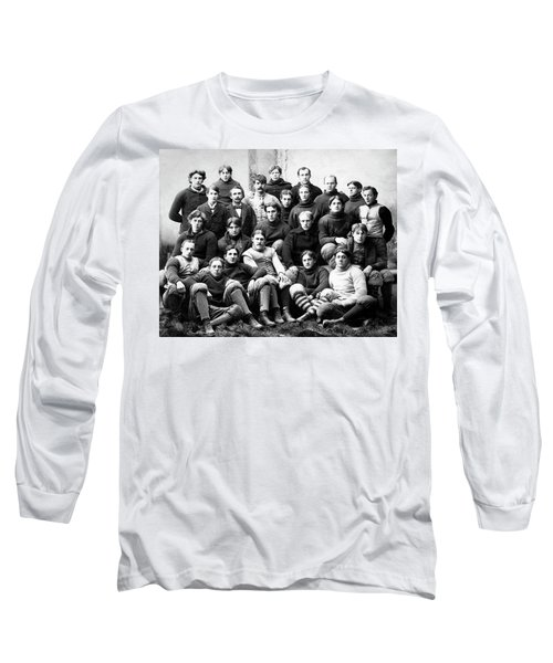 Michigan Wolverines Football Heritage  1895 Long Sleeve T-Shirt by Daniel Hagerman