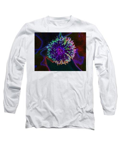 Microorganism Long Sleeve T-Shirt by Samantha Thome