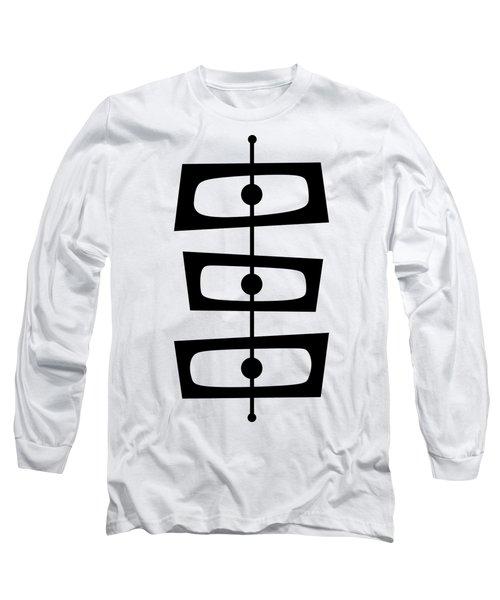 Mid Century Shapes 1 Transparent Long Sleeve T-Shirt
