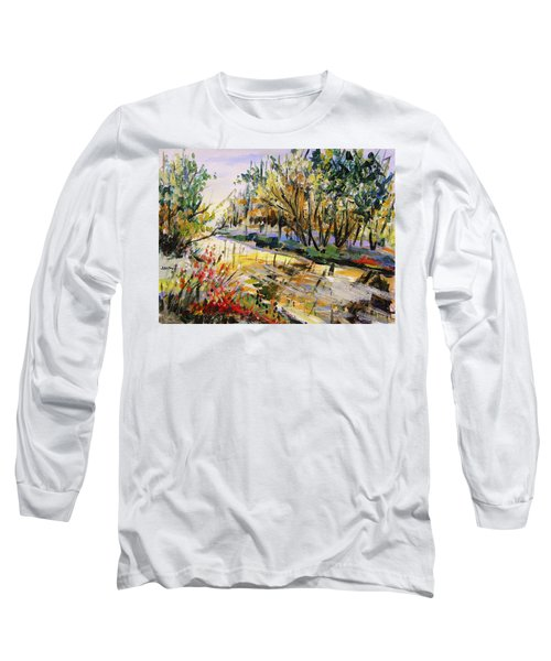 Long Sleeve T-Shirt featuring the painting Mid-morning Light by John Williams