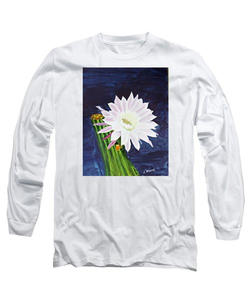 Midnight Blossom Long Sleeve T-Shirt by Jack G  Brauer