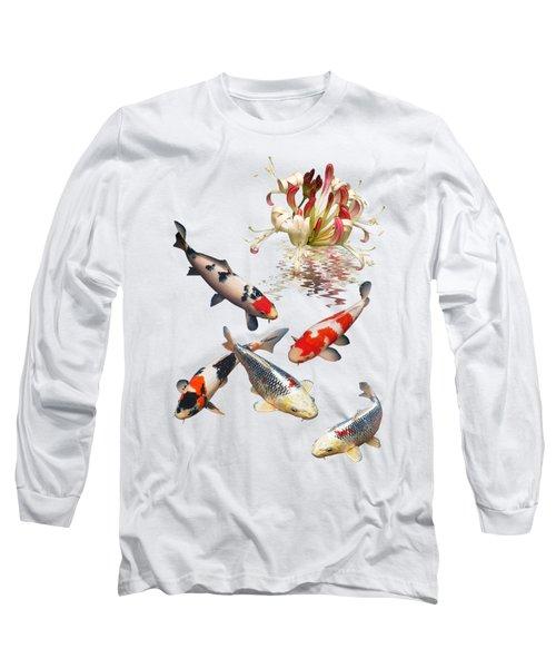 Midnight Reflections Long Sleeve T-Shirt by Gill Billington
