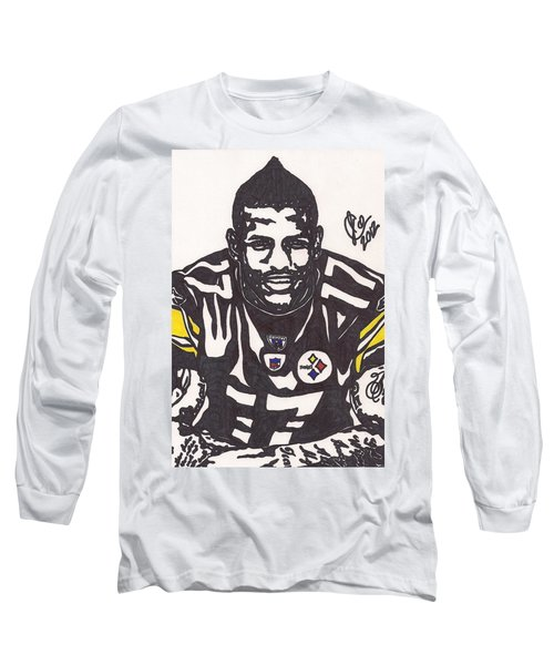Long Sleeve T-Shirt featuring the drawing Mike Wallace 1 by Jeremiah Colley