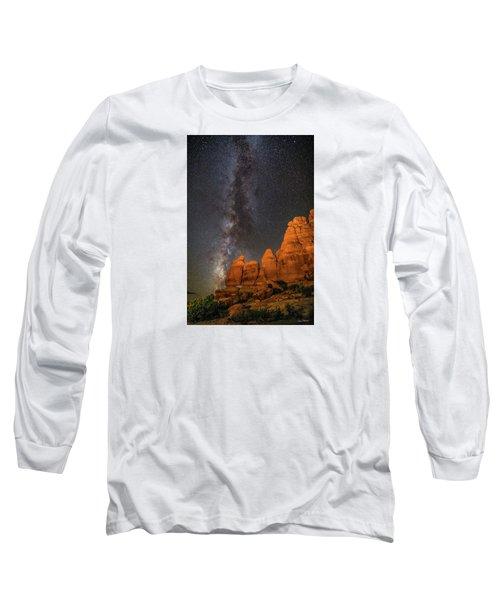 Milky Way And Navajo Rocks Long Sleeve T-Shirt