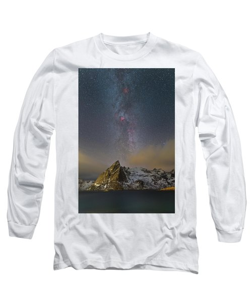 Milky Way In Lofoten Long Sleeve T-Shirt