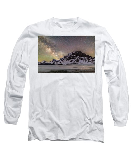 Milky Way Over Crowfoot Mountain Long Sleeve T-Shirt