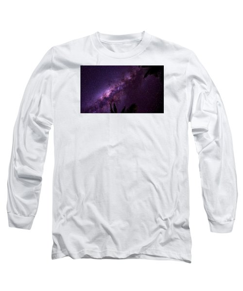 Milky Way Over Mission Beach Narrow Long Sleeve T-Shirt by Avian Resources