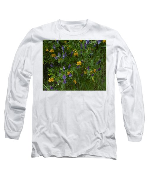 Mimulus And Vetch Long Sleeve T-Shirt by Doug Herr