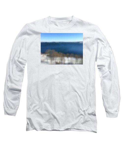 Minimalist Soft Focus Seascape Long Sleeve T-Shirt