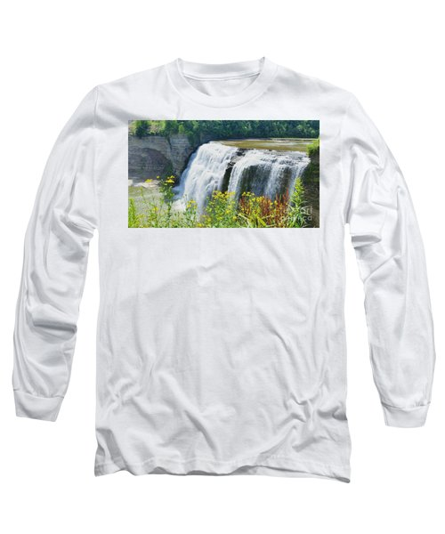 Long Sleeve T-Shirt featuring the photograph Mini Falls by Raymond Earley
