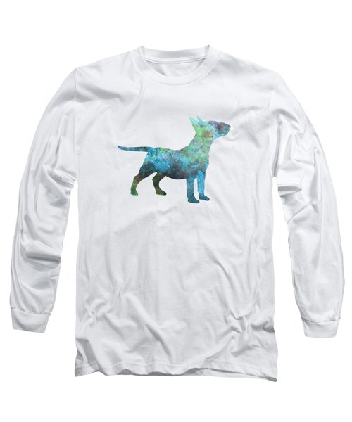 Miniature Bull Terrier In Watercolor Long Sleeve T-Shirt