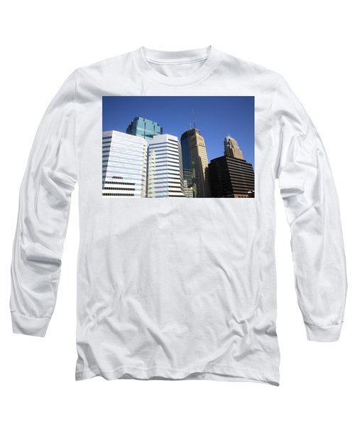 Long Sleeve T-Shirt featuring the photograph Minneapolis Skyscrapers 11 by Frank Romeo