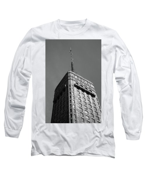 Long Sleeve T-Shirt featuring the photograph Minneapolis Tower 6 Bw by Frank Romeo