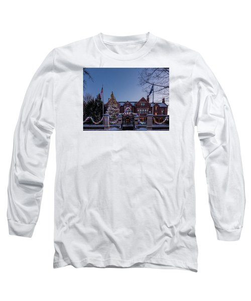Christmas Lights Series #6 - Minnesota Governor's Mansion Long Sleeve T-Shirt