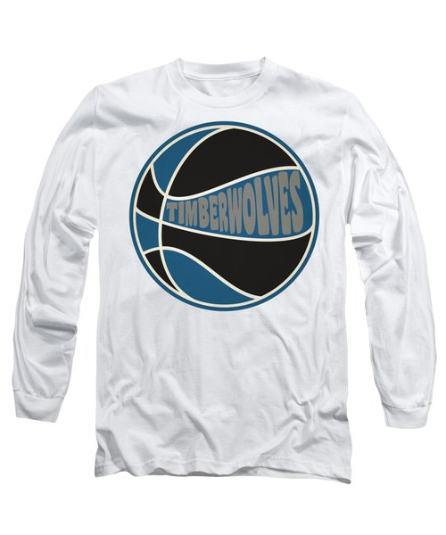 Minnesota Timberwolves Retro Shirt Long Sleeve T-Shirt by Joe Hamilton