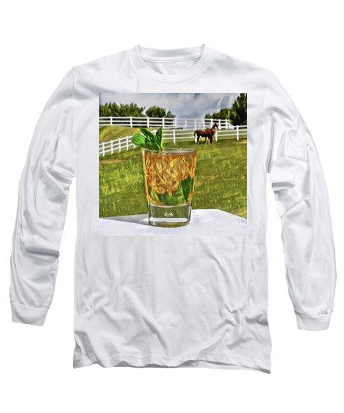 Mint Julep Kentucky Derby Long Sleeve T-Shirt
