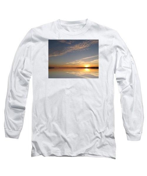 Mirror Lake Sunrise  Long Sleeve T-Shirt by Lyle Crump