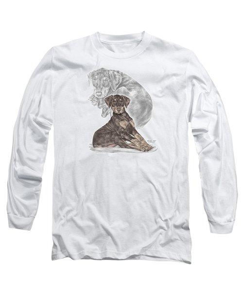 Mischief ... Moi? - Doberman Pinscher Puppy - Color Tinted Long Sleeve T-Shirt