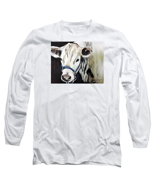 Miss White Long Sleeve T-Shirt by Tom Riggs