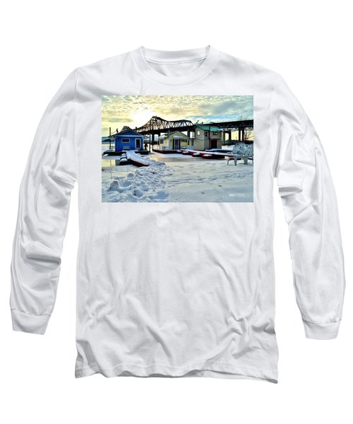Mississippi River Boathouses Long Sleeve T-Shirt