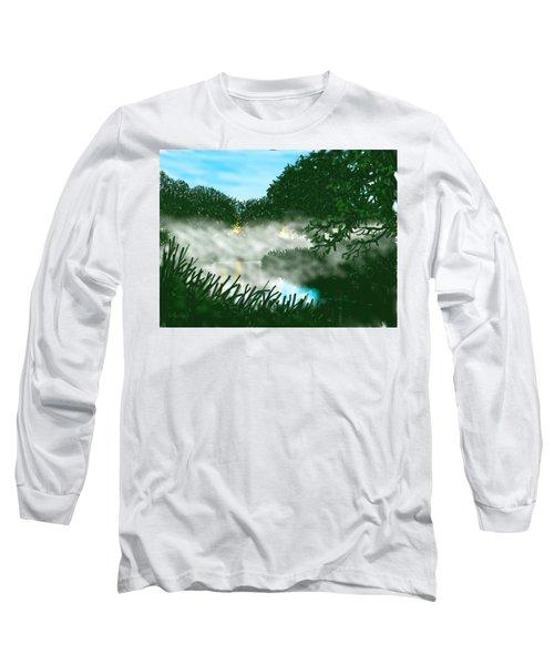 Mist On The River Ouse Long Sleeve T-Shirt
